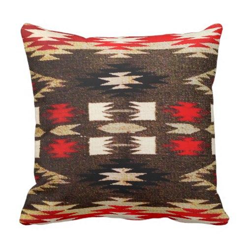 Native American Navajo Tribal Design Print Throw Pillow