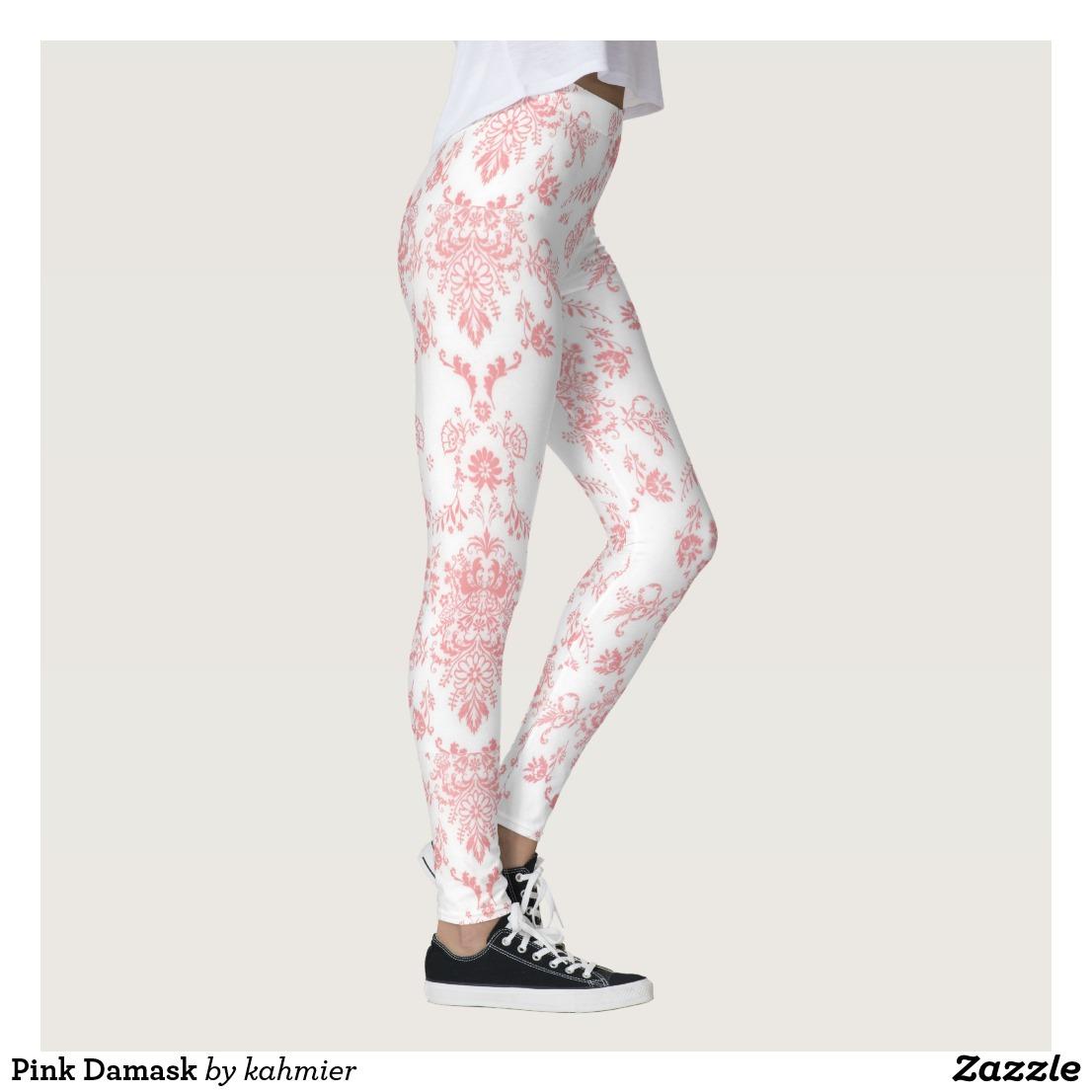 Pink Damask Leggings