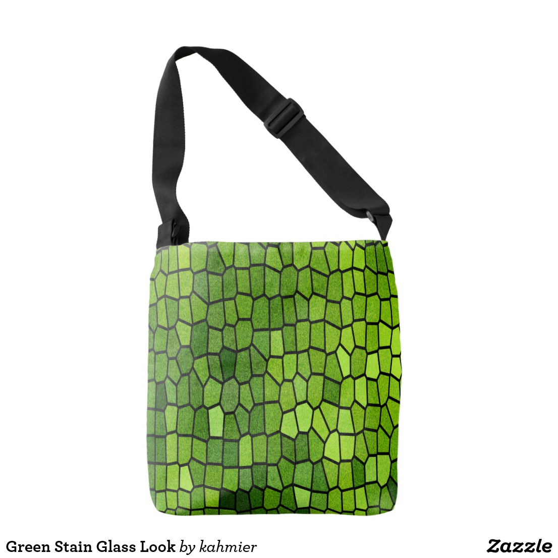 Green Stain Glass Look Crossbody Bag