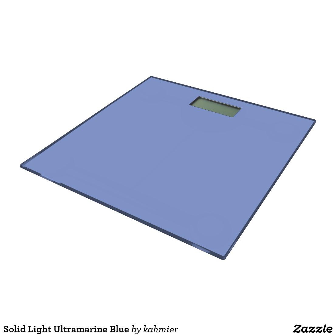 Solid Light Ultramarine Blue Bathroom Scale