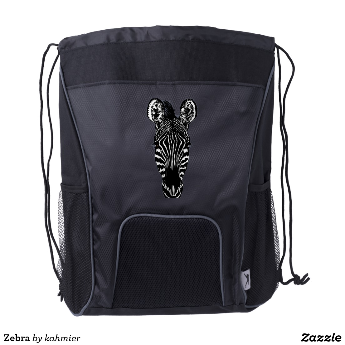 Zebra Drawstring Backpack
