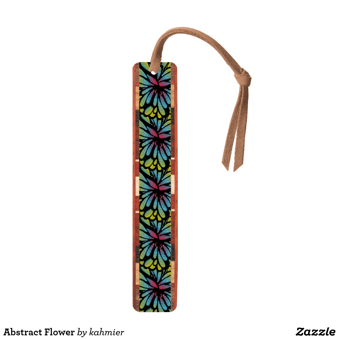 Abstract Flower Bookmark