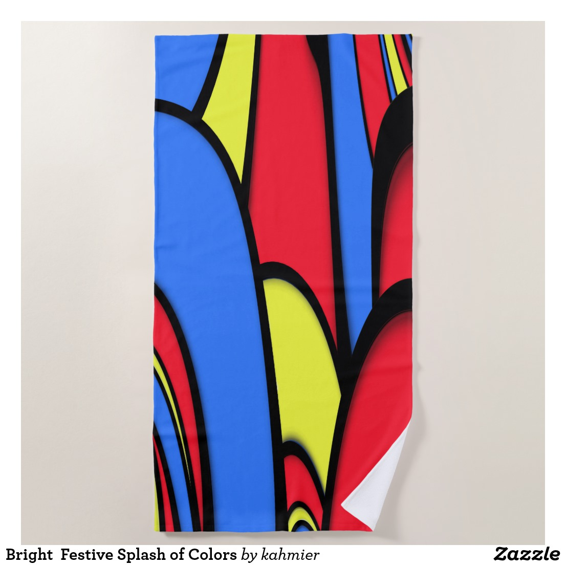 Bright Festive Splash of Colors Beach Towel