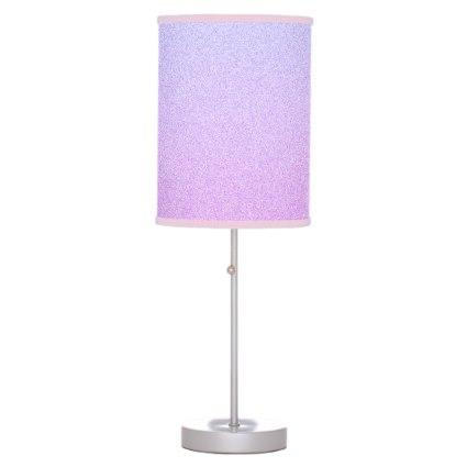 Pastel Ombre Glitter Desk Lamp
