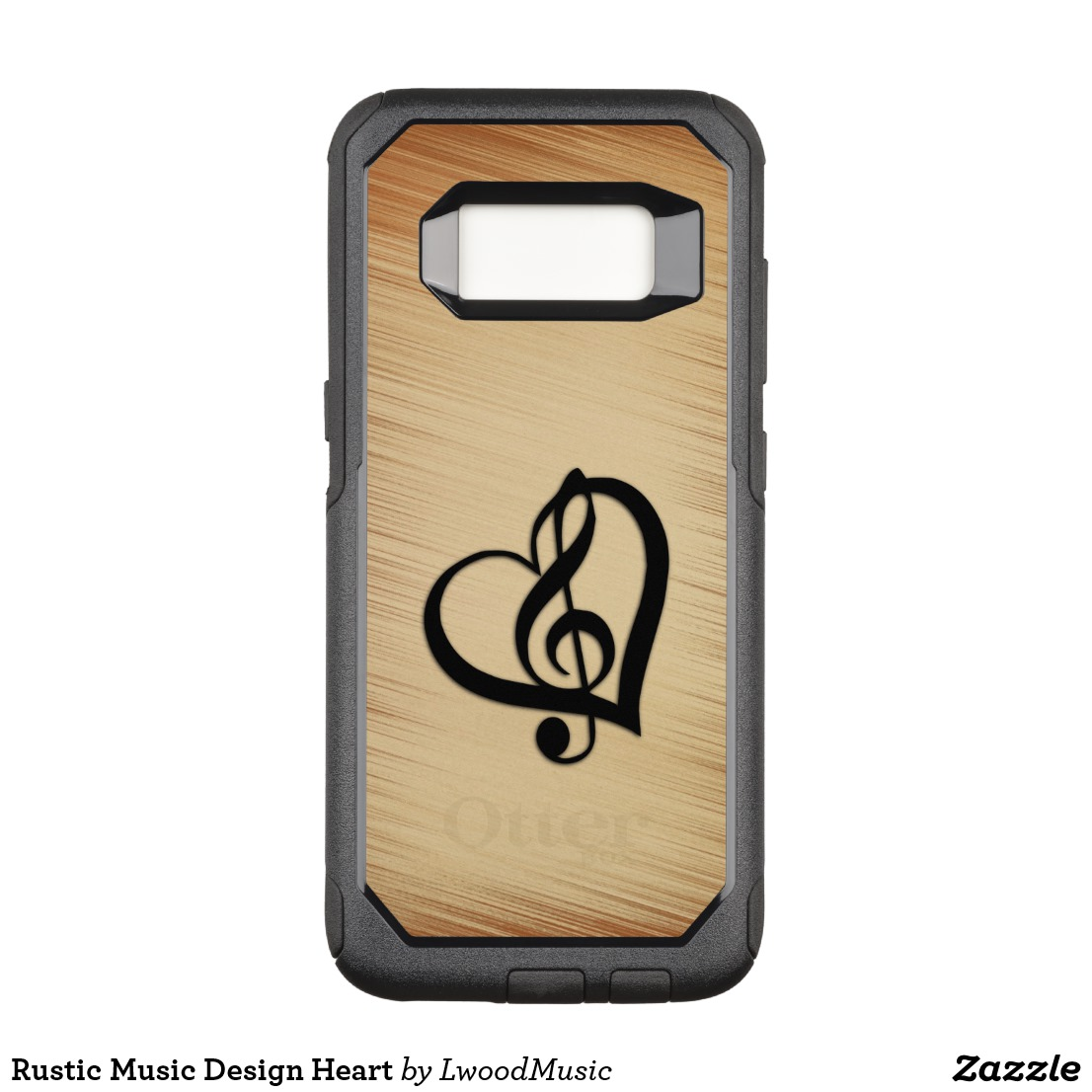Rustic Music Design Heart OtterBox Commuter Samsung Galaxy S8 Case