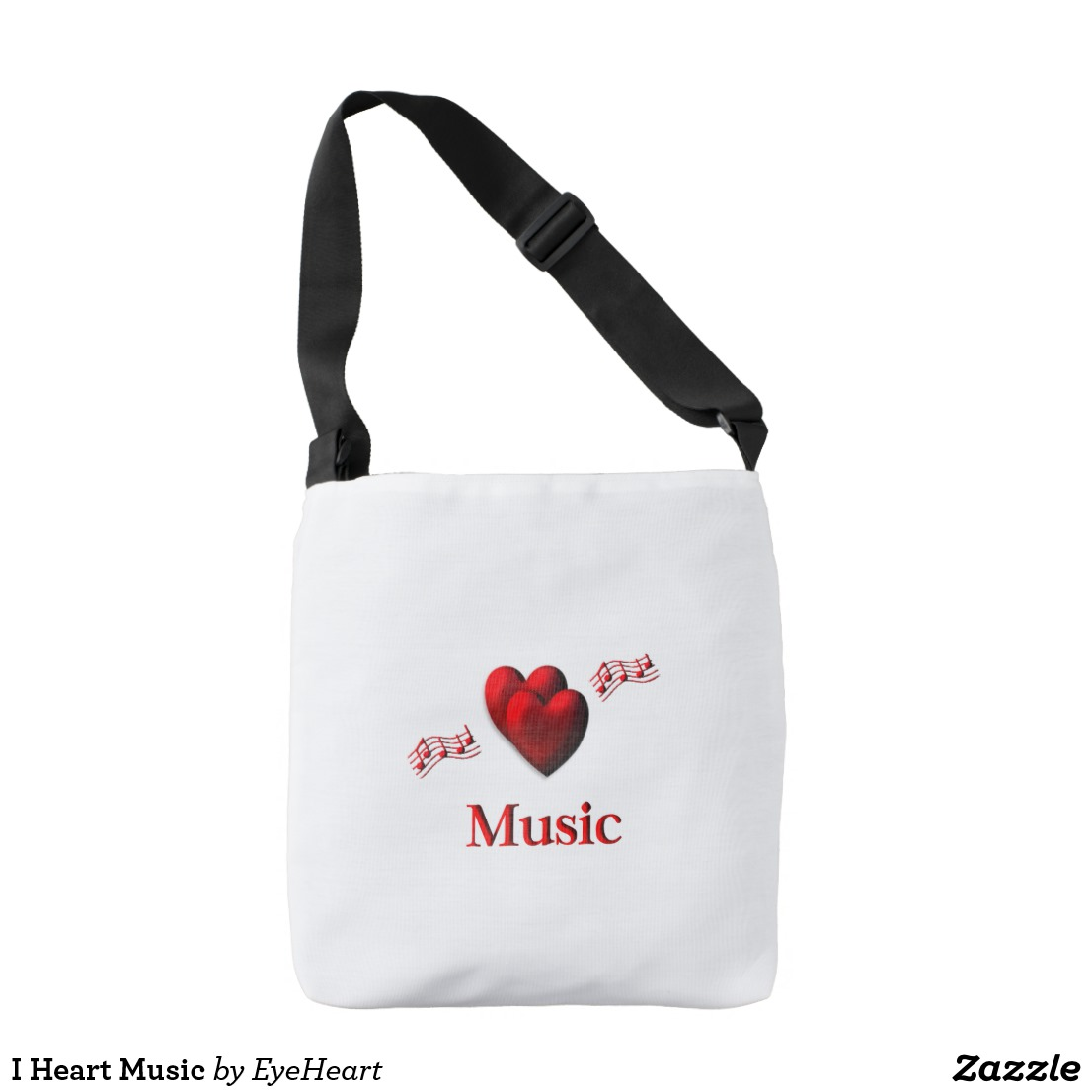 I Heart Music Crossbody Bag