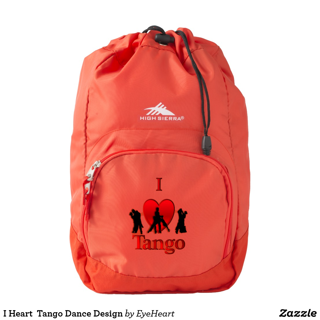 I Heart Tango Dance Design Backpack