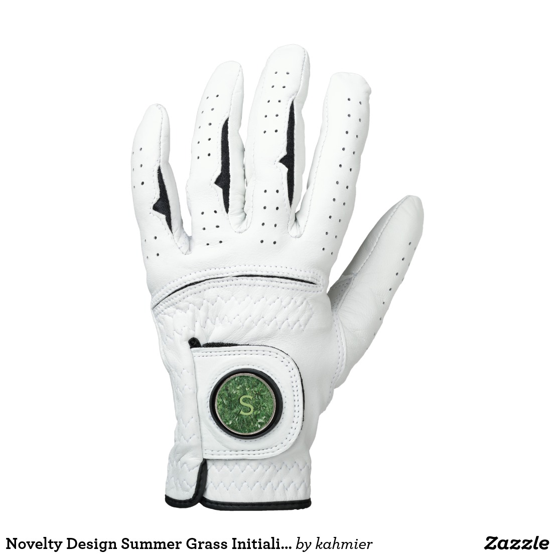 Novelty Design Summer Grass Initialized Golf Glove