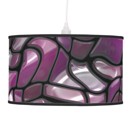 Purple Waves Abstract Hanging Lamp