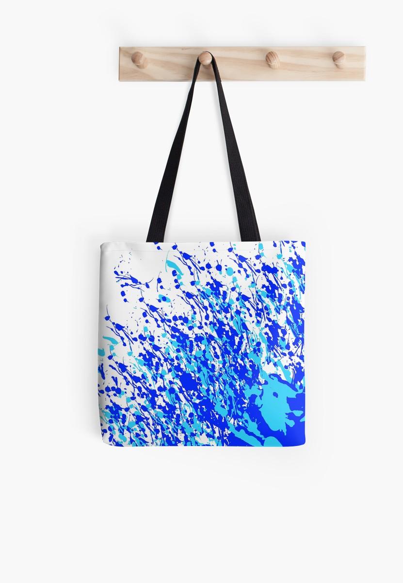 Splash and Drip Blue Art by Leatherwood Design a/k/a kahmier