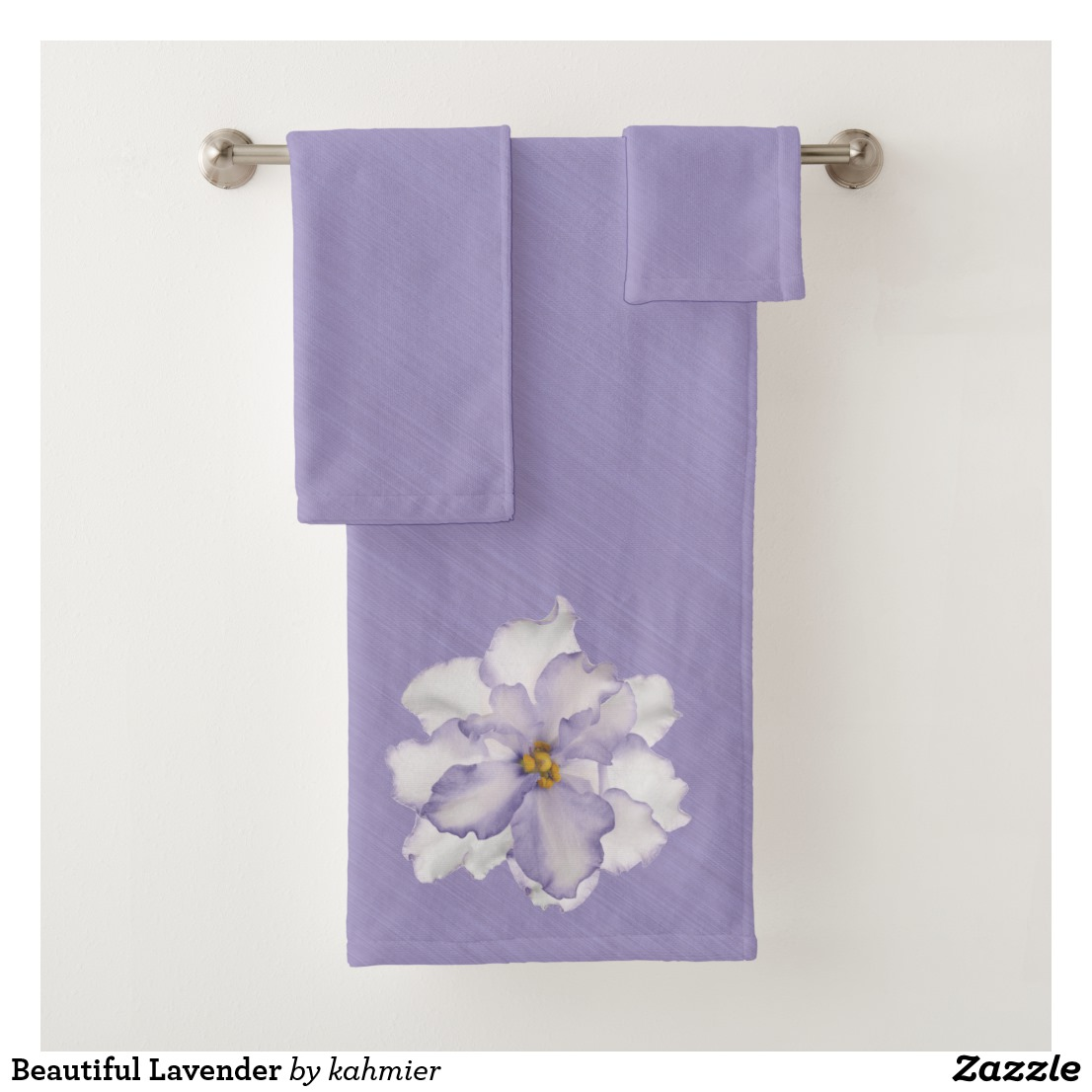Beautiful Lavender Bath Towel Set
