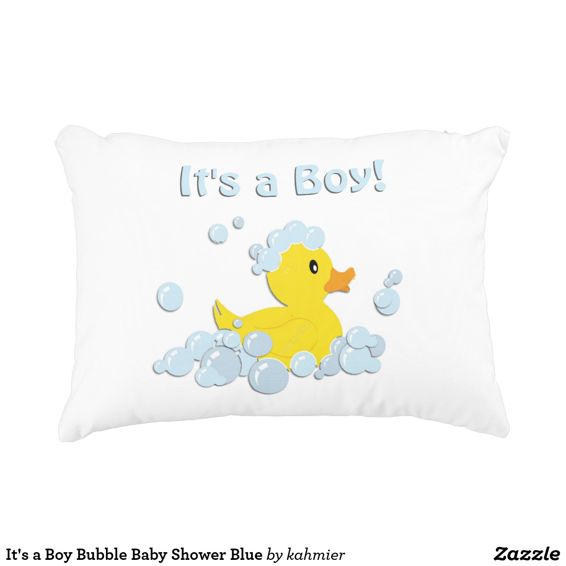 It's a Boy Bubble Baby Shower Blue Decorative Pillow