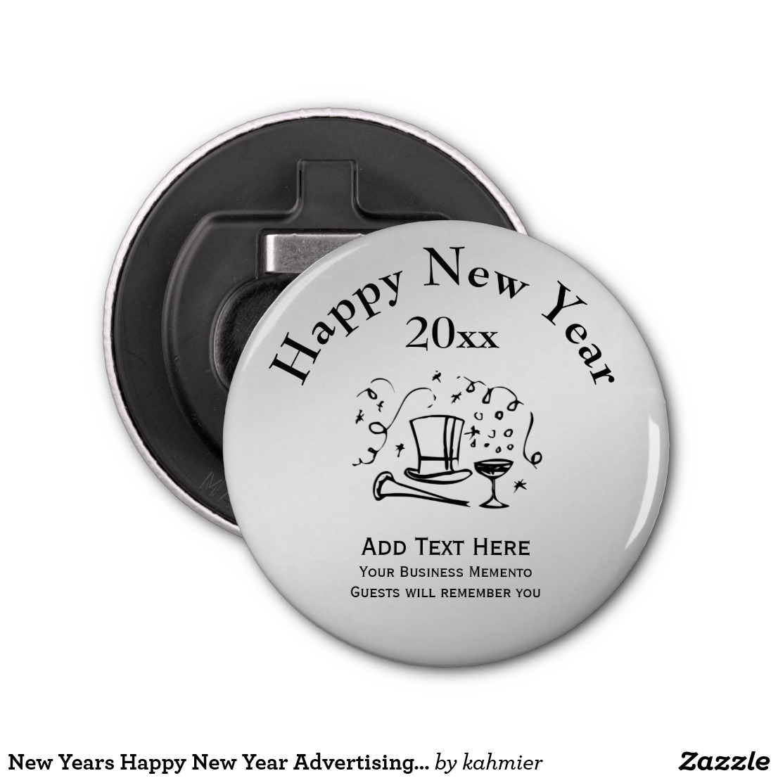 New Years Happy New Year Advertising Memento Bottle Opener