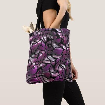 Purple Waves Abstract Crossbody Bag