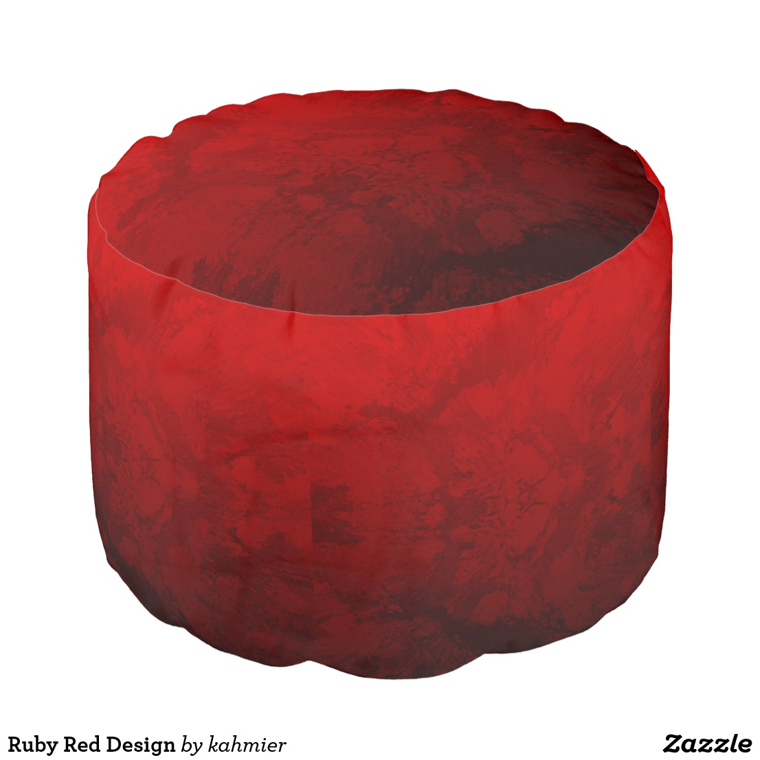 Ruby Red Design Pouf
