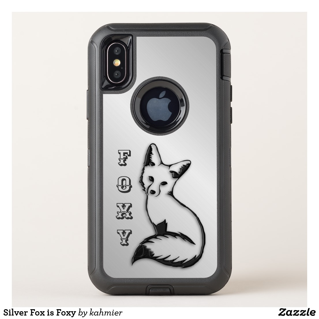 Silver Fox is Foxy OtterBox Defender iPhone X Case
