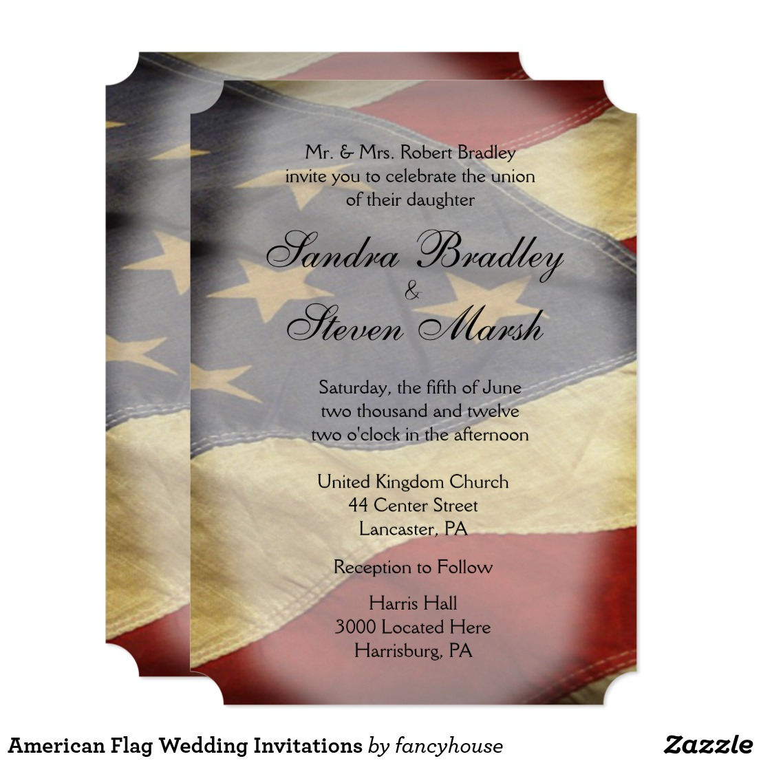 American Flag Wedding Invitations