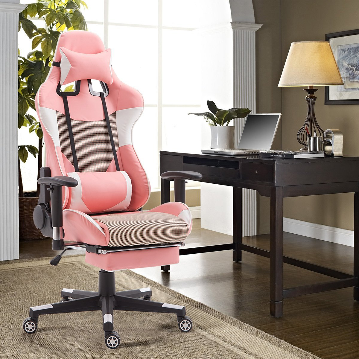 Superb Giantex Gaming Chair High Back Racing Style Reclining With Ocoug Best Dining Table And Chair Ideas Images Ocougorg