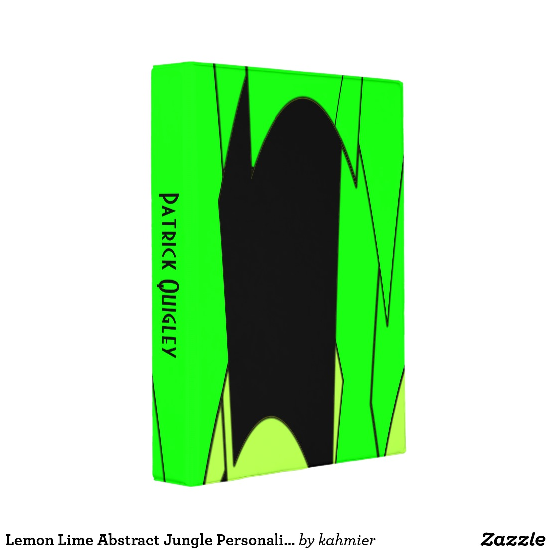 Lemon Lime Abstract Jungle Personalized Mini Binder