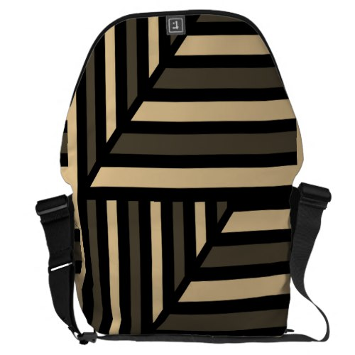Perspective Modern Stripe Courier Bag