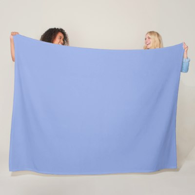 Solid Light Ultramarine Blue Fleece Blanket