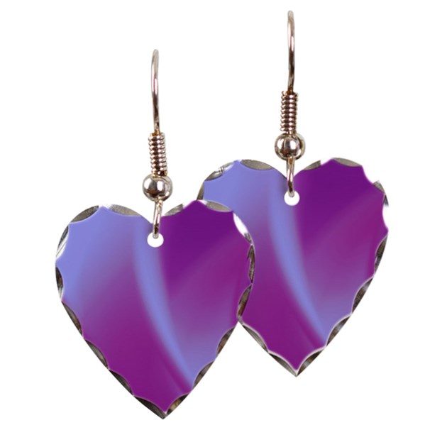 e31dee8228 Veils of Purple Heart Necklace and Matching Heart Earrings | Home
