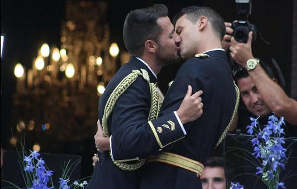 Gay Military wedding