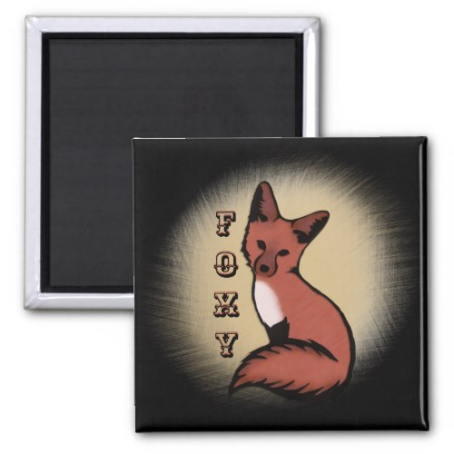 Sly Red Foxy Fox Magnet