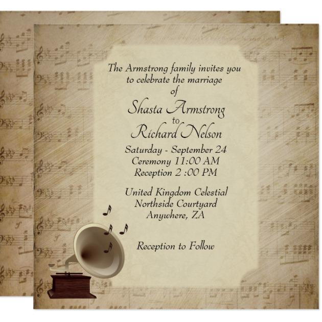 new music wedding invitation and 34 music festival wedding invitations