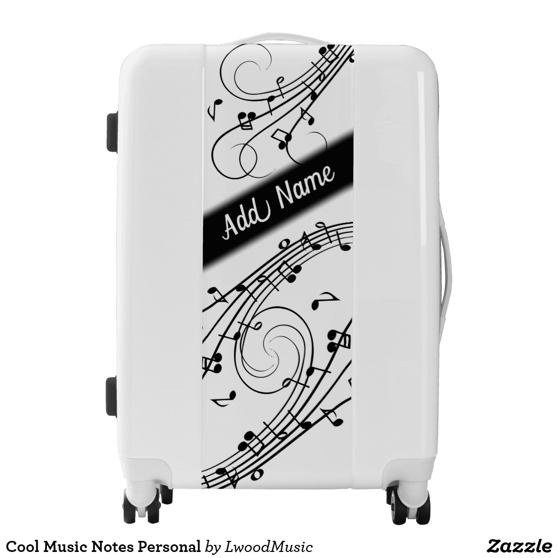 Cool Music Notes Personal Luggage
