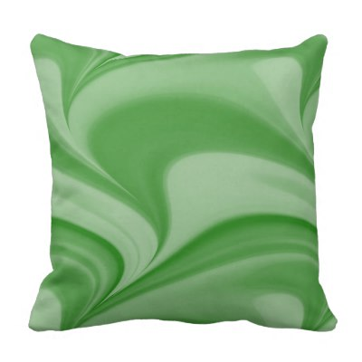 Two Tone Emerald Swirl Outdoor Pillow