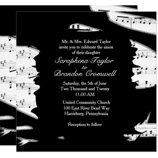 music wedding invitation and 46 music playing wedding invitations