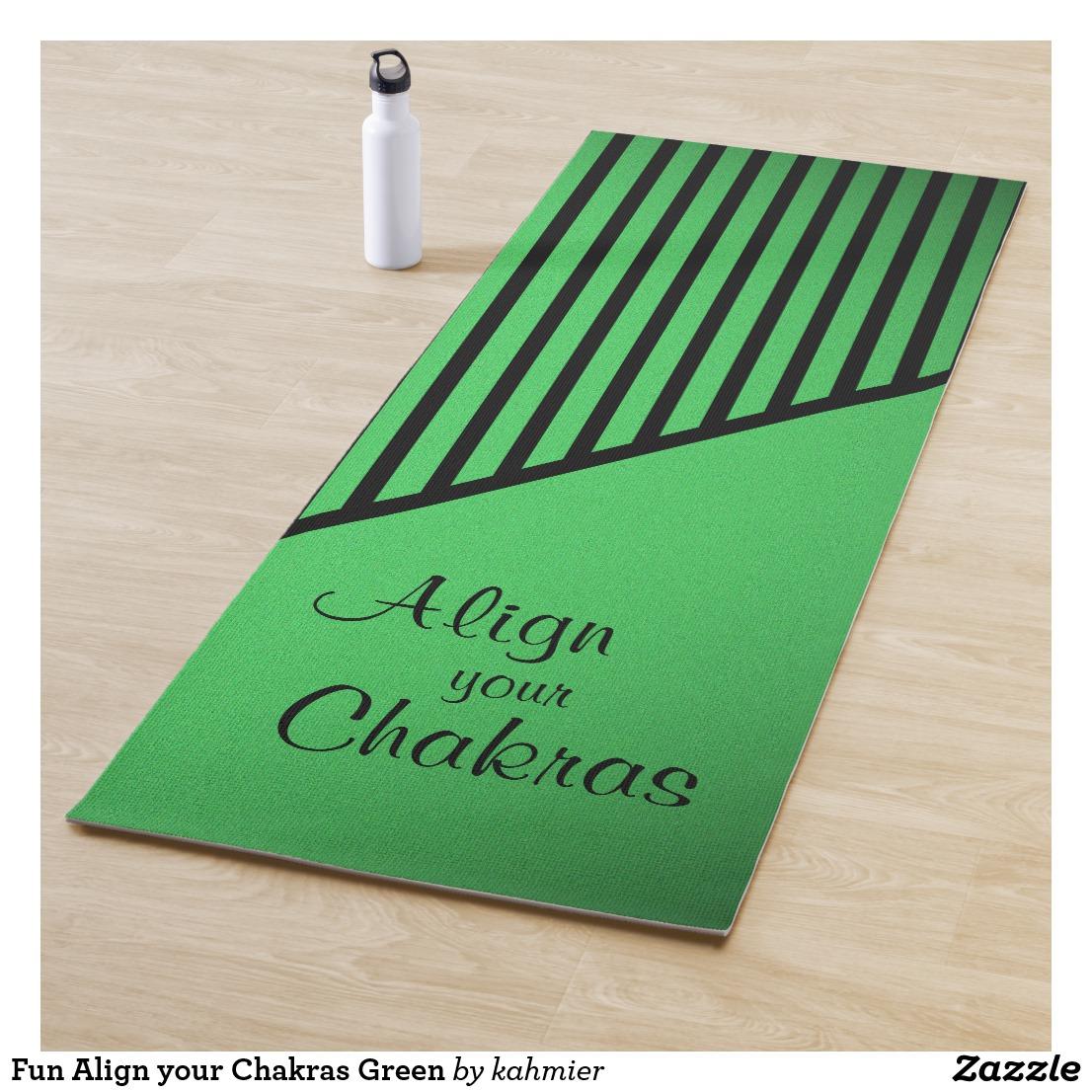 Fun Align your Chakras Green Yoga Mat
