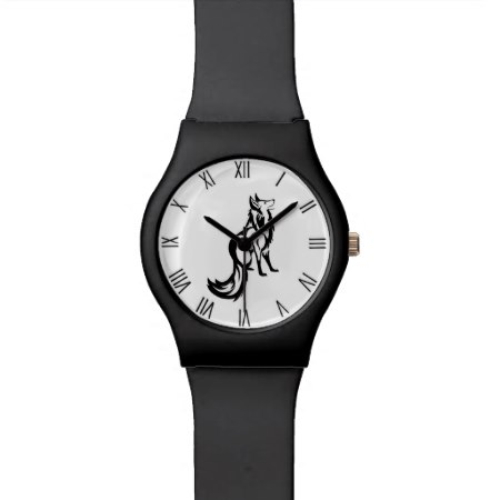 Sly Fox with Roman Numerals on White Face Watch