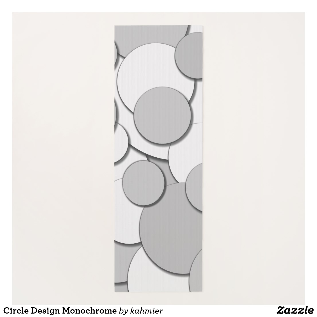 Circle Design Monochrome Yoga Mat