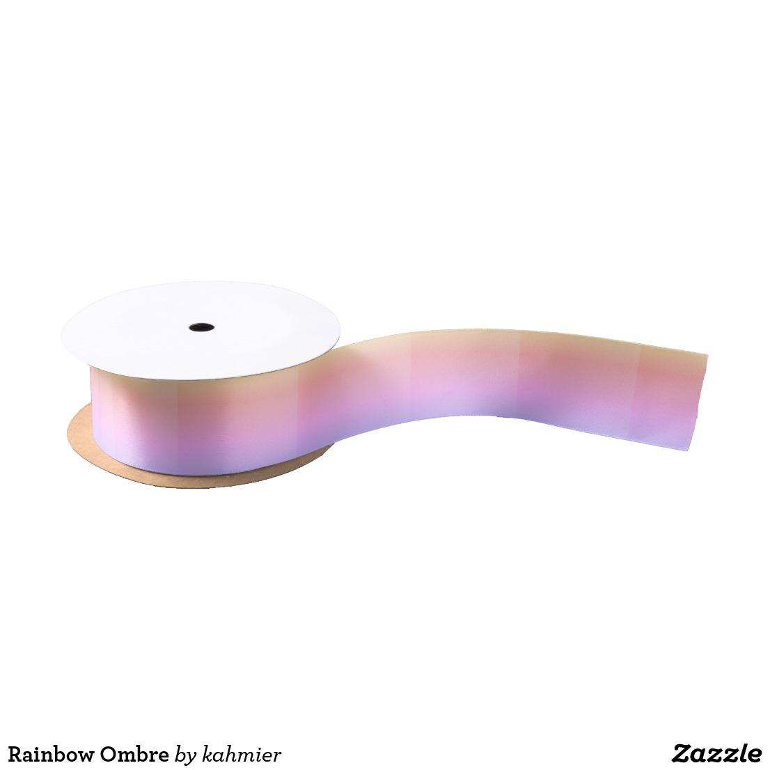 Rainbow Ombre Satin Ribbon