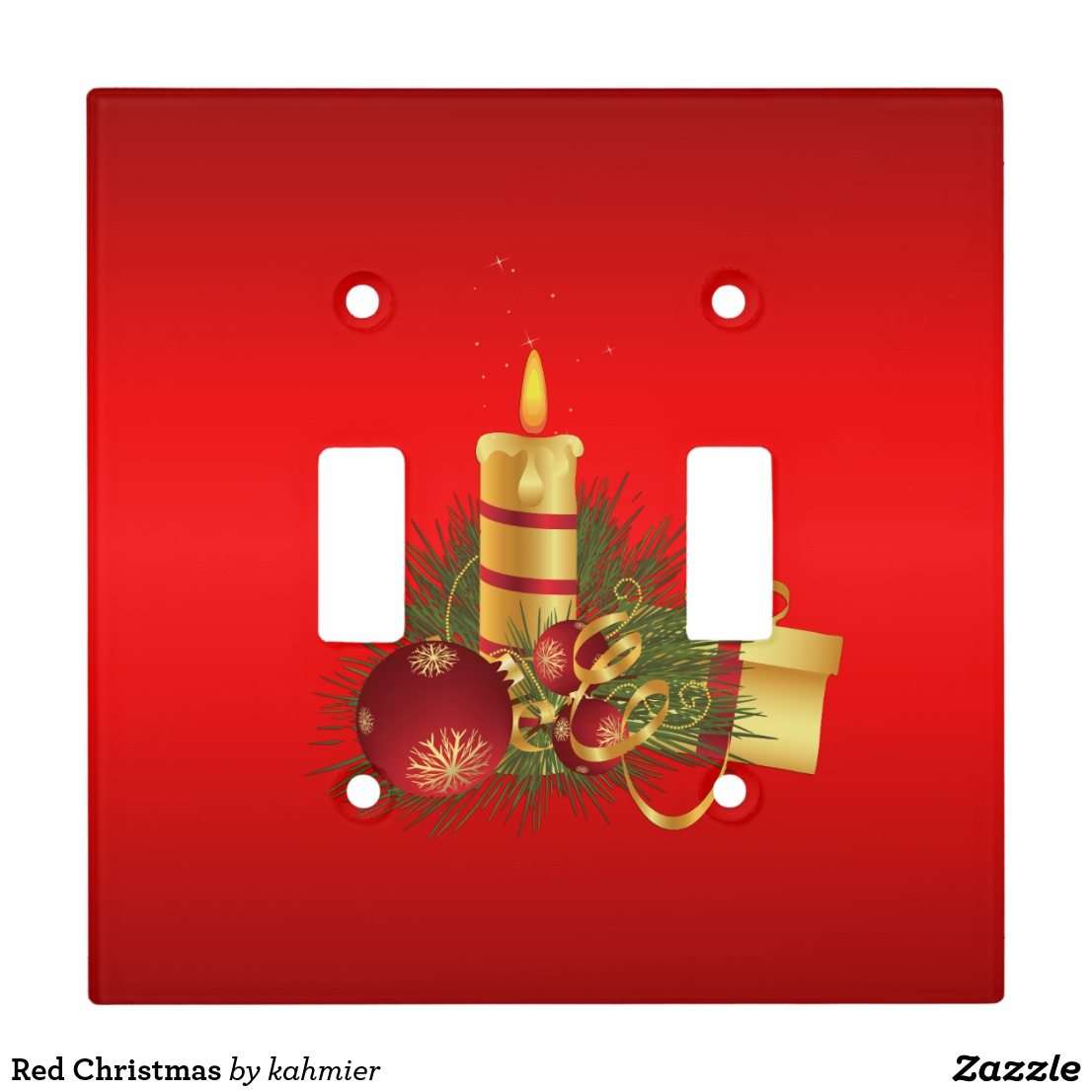 Red Christmas Light Switch Cover