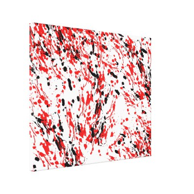 Abstract Splash and Drip Canvas Print