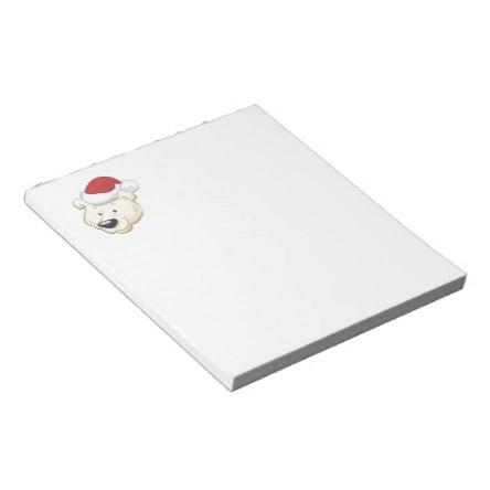 Christmas Polar Bear Notepad