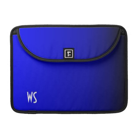 Electric Blue Personalized Sleeve For MacBook Pro
