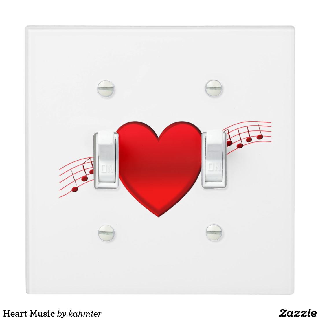 Heart Music Light Switch Cover