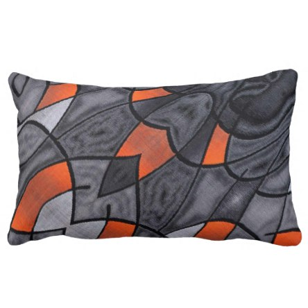 Modern Contemporary Art Lumbar Pillow