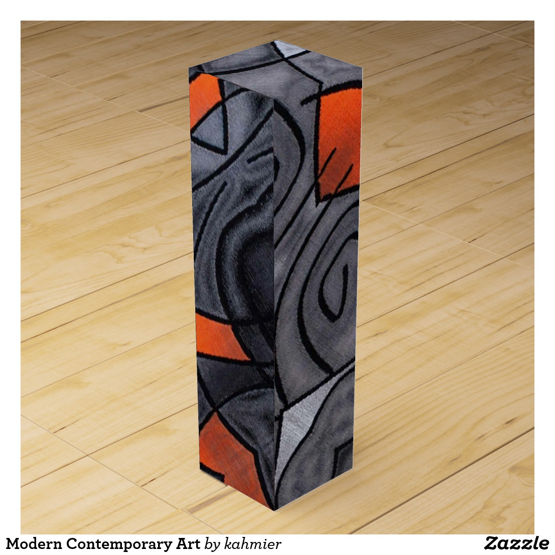 Modern Contemporary Art Wine Box