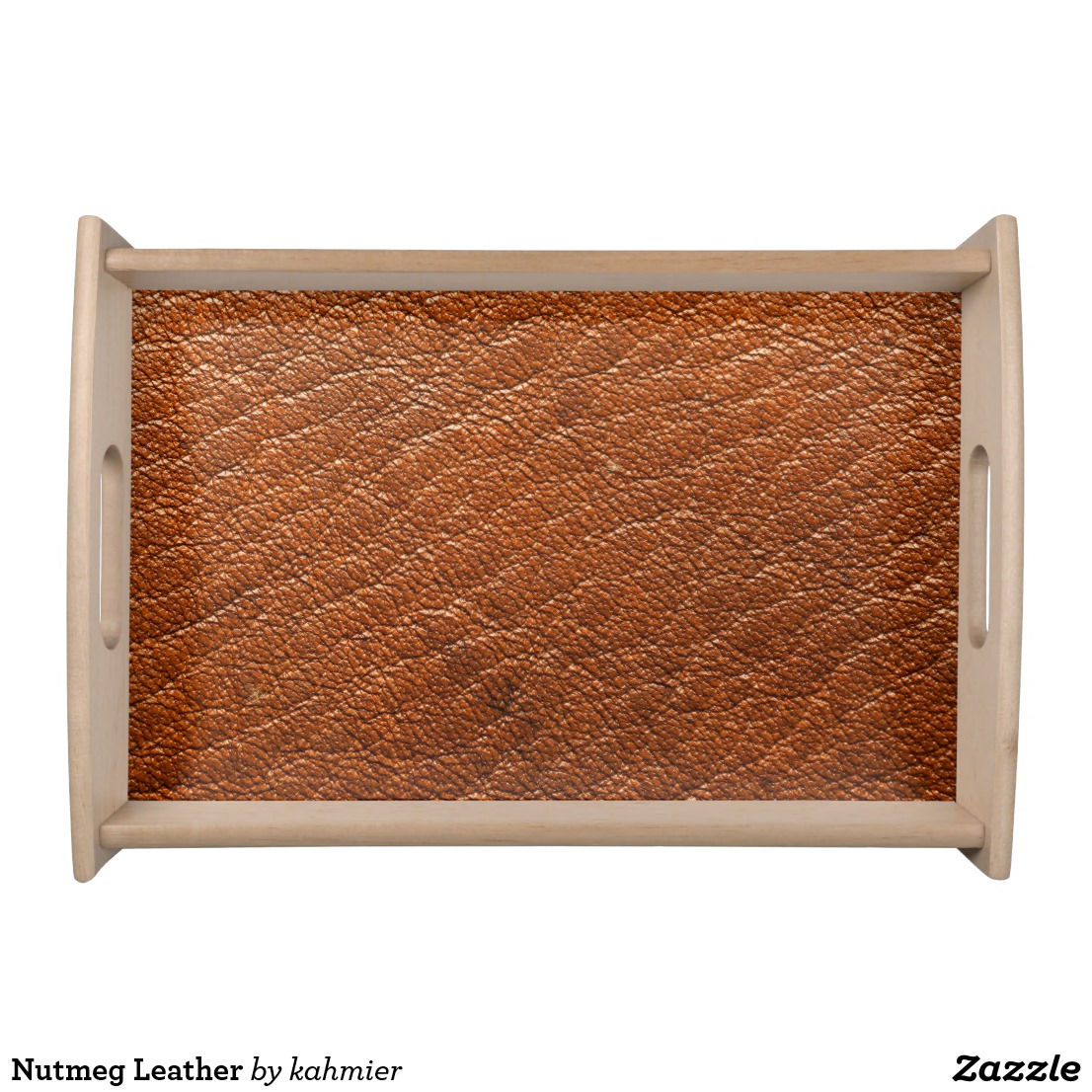 Nutmeg Leather Serving Tray