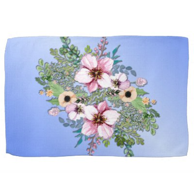 Arrangement of Flowers Hand Towel