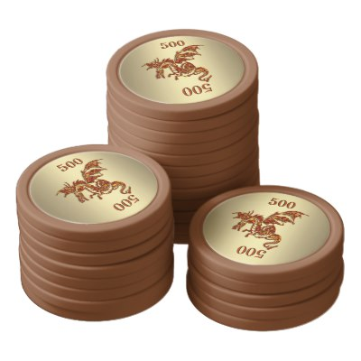 Awesome Dragons with Numbers you Change Set Of Poker Chips