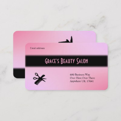 Beautician Business Card