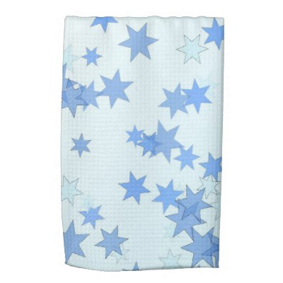 Blue Stars Design Hand Towel