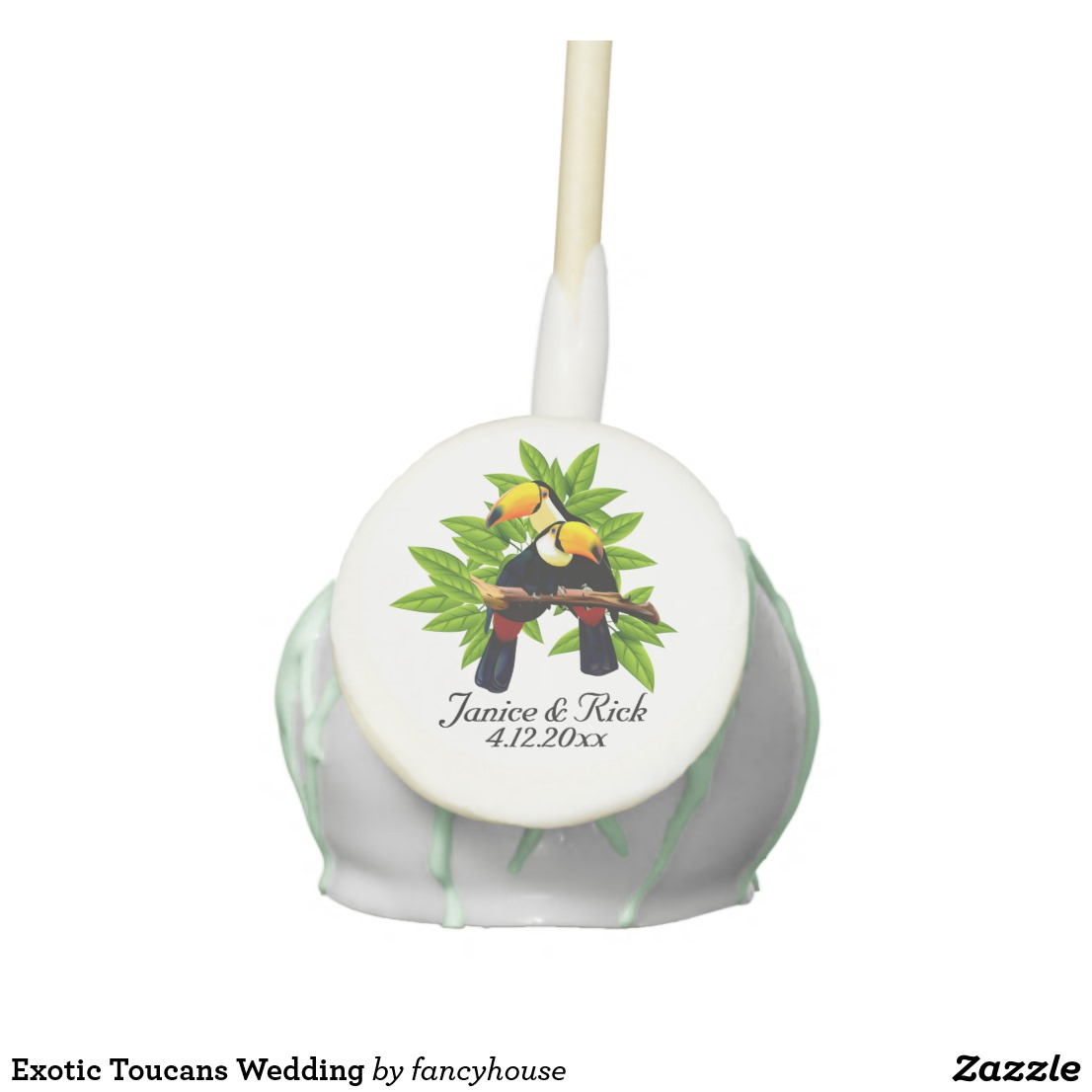 Exotic Toucans Wedding Cake Pops