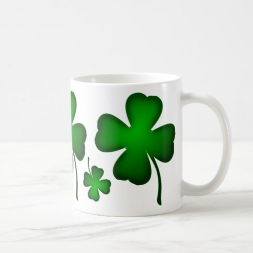 Four .leaf Clover Design Coffee Mug
